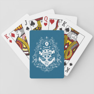 Decorative Anchor custom monogram playing cards