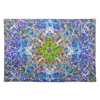 Decorative And Colourful Kaleidoscope Pattern Placemat