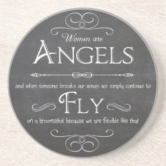 Decorative and Functional Coaster-Women Are Angels Coaster