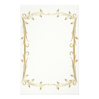 Decorative Antique Gold Border Wedding Stationery