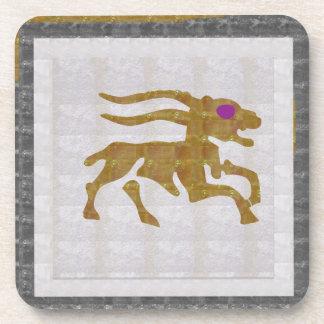 Decorative ART CAPRICORN Zodiac Astrology SYMBOL Beverage Coaster