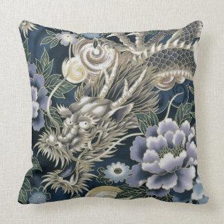Decorative Asian Dragon Floral Patten Pillow Cushion