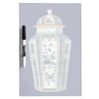 Decorative Asian Urn in Blue & White Dry Erase Board