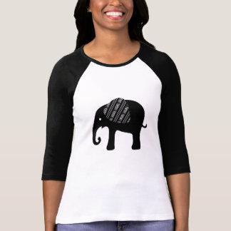 Decorative Baby Black Elephant Filigree Ear T-shirts