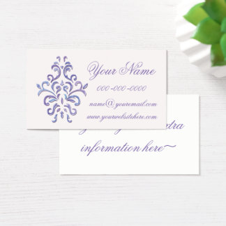 Decorative Baroque Business Card In Purple