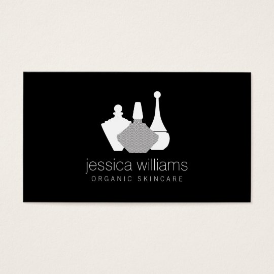 Decorative Beauty Containers Cosmetologist Black Business Card