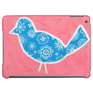 Decorative Bird with Patterns on Pink Background