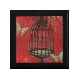Decorative Birdcage with Butterflies Jewelry Box