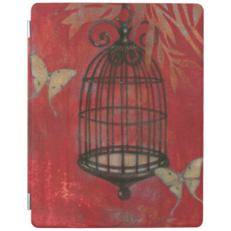 Decorative Birdcage with Butterflies iPad Cover