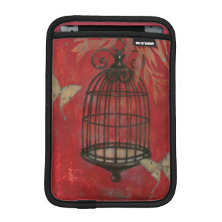 Decorative Birdcage with Butterflies iPad Mini Sleeve