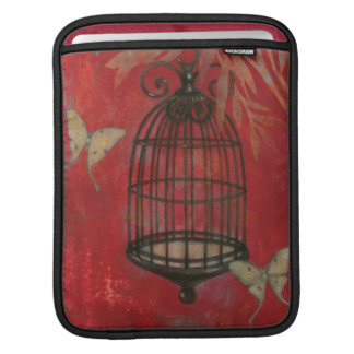 Decorative Birdcage with Butterflies iPad Sleeve