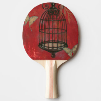 Decorative Birdcage with Butterflies Ping Pong Paddle