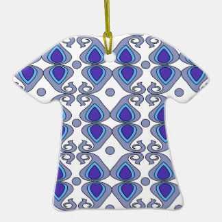 Decorative Blue And Gray Paisley Pattern Christmas Ornament