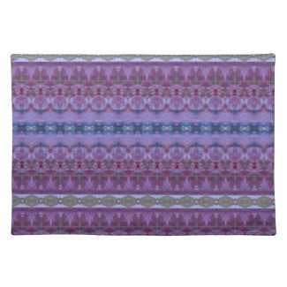 Decorative Blue and Purple Patterned Place Mat