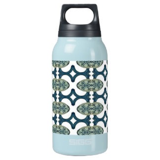 Decorative Blue And White Pattern 10 Oz Insulated SIGG Thermos Water Bottle
