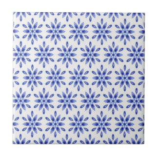 Decorative Blue And White Tile
