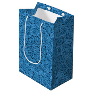 Decorative Blue  Kaleidoscope Medium Gift Bag