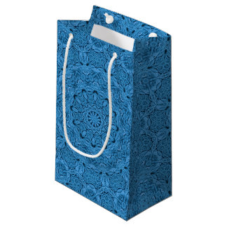 Decorative Blue  Kaleidoscope  Small Gift Bag