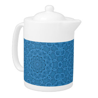 Decorative Blue Vintage   Colorful Teapots
