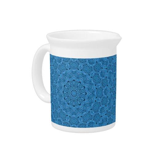Decorative Blue Vintage Colourful Pitcher