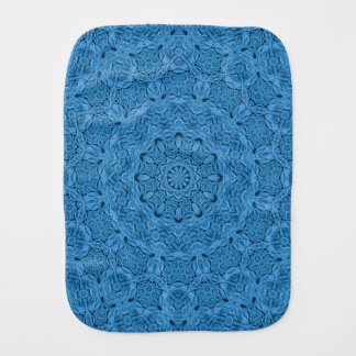 Decorative Blue Vintage  Kaleidoscope Burp Cloth