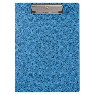 Decorative Blue Vintage Kaleidoscope    Clipboard
