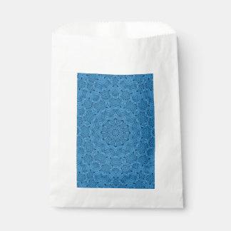 Decorative Blue Vintage Kaleidoscope   Favor Bags