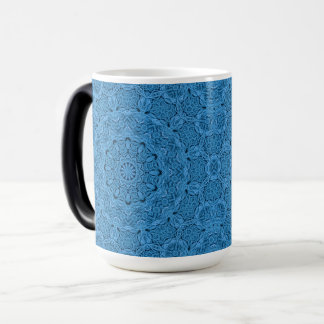 Decorative Blue Vintage Kaleidoscope Morphing Mug