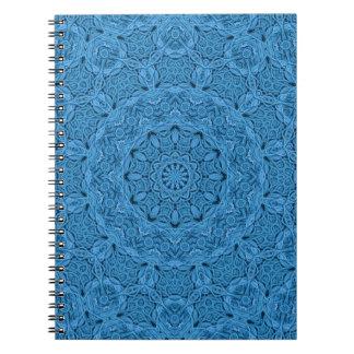 Decorative Blue Vintage Kaleidoscope   Notebook