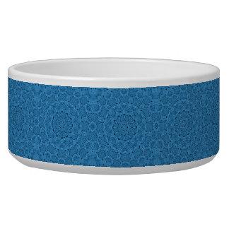 Decorative Blue Vintage Kaleidoscope  Pet Dish