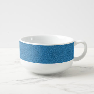 Decorative Blue Vintage Kaleidoscope  Soup Mugs