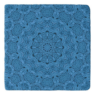 Decorative Blue Vintage Kaleidoscope  Trivet