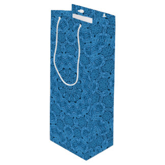 Decorative Blue Vintage Kaleidoscope  Wine Bags