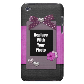 Decorative Bow Hearts Scrapbook Art Add A Photo Barely There iPod Case