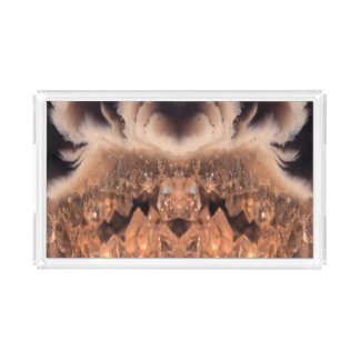 Decorative Brown Geode Crystal Pattern Acrylic Tray
