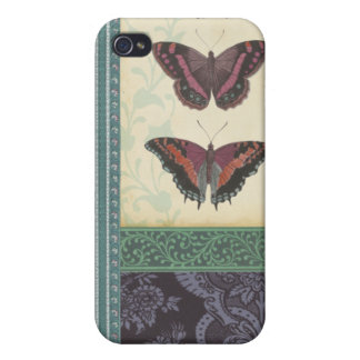 Decorative Butterfly Brocade by Vision Studio Covers For iPhone 4