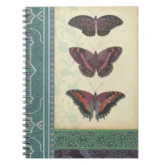 Decorative Butterfly Brocade by Vision Studio Spiral Notebooks