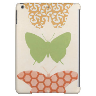 Decorative Butterfly Patterns on Cream Background