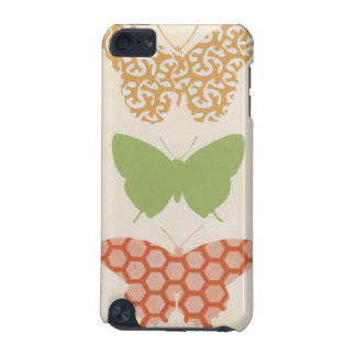 Decorative Butterfly Patterns on Cream Background iPod Touch 5G Cover