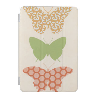 Decorative Butterfly Patterns on Cream Background iPad Mini Cover