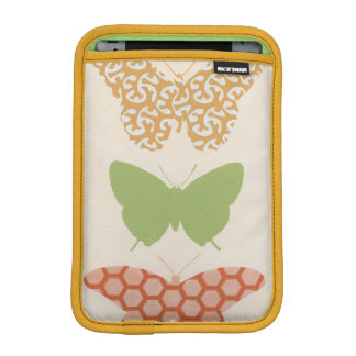Decorative Butterfly Patterns on Cream Background iPad Mini Sleeve