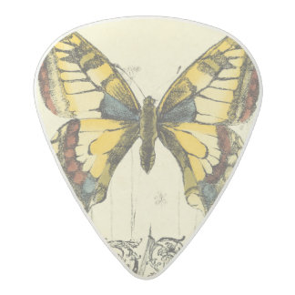 Decorative Butterfly with Wildflowers Acetal Guitar Pick