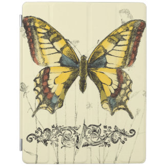 Decorative Butterfly with Wildflowers iPad Cover