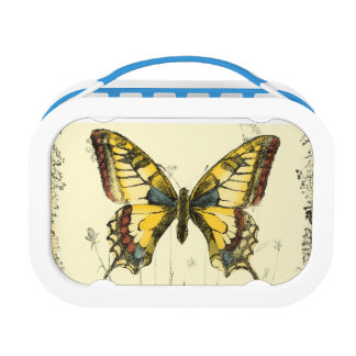 Decorative Butterfly with Wildflowers Lunch Box