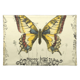Decorative Butterfly with Wildflowers Placemat