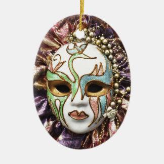 Decorative Carnival Mask Ceramic Oval Decoration
