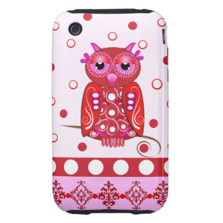 Decorative cartoon iPhone case with Owl Tough iPhone 3 Covers