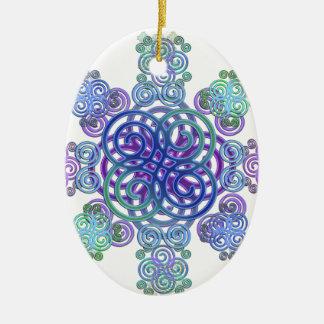 Decorative Celtic design. Christmas Ornament