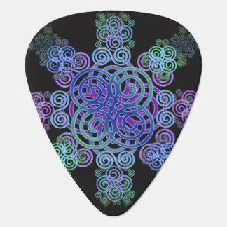 Decorative Celtic design. Guitar Pick
