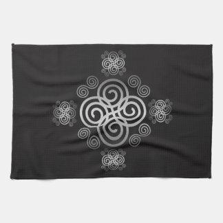 Decorative Celtic design. Towel